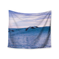 """Colin Pierce """"Sky Surfers"""" Lavender Pink Photography Wall Tapestry"""