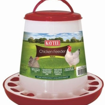 FARM PRODUCTS - CHICKEN PLASTIC FEEDER - MEDIUM - .8 GAL - CENTRAL - SUPER PET/PETs INTL - UPC: 45125658422 - DEPT: HORSE PRODUCTS/FARM PRODUCTS