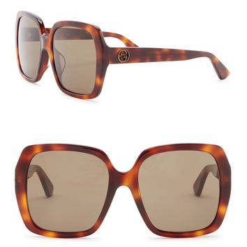 GUCCI | 55mm Oversized Square Sunglasses | Nordstrom Rack