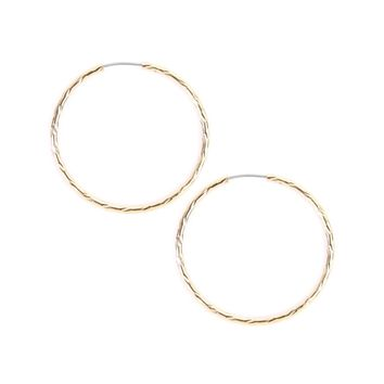 Textured Endless Small Hoop Earrings