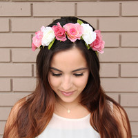 Summertime Rose Headband