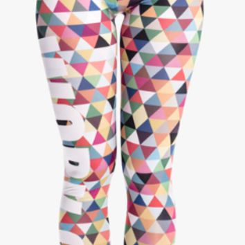 Zohra High Quality Women Legging Triangle Multi Printing Leggings Fitness Sexy High Waist Woman Pants