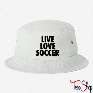 Live Love Soccer bucket hat