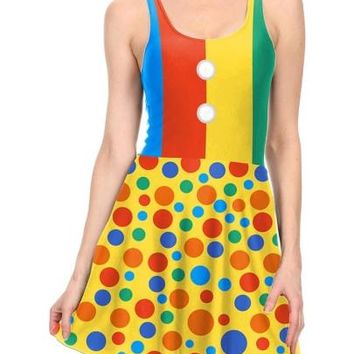 Yellow Polka Dots Halloween Women's Day Dress