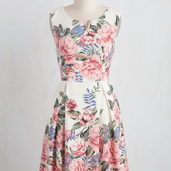 I Rest My Grace Dress in Roses | Mod Retro Vintage Dresses | ModCloth.com