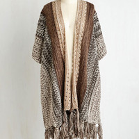Boho Short Sleeves Give It Shawl You Got Cardigan Size OS by ModCloth