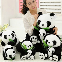 Sitting Mother and Baby Panda Plush Toys