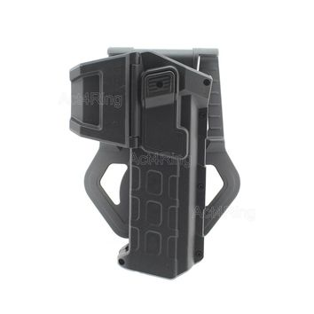 Tactical Movable Pistol Holsters for 1911 with Flashlight or Laser Mounted Right Hand Waist Belt Gun Holster