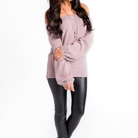 Wagner Off The Shoulder Top (Mauve)