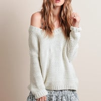 Dreamy Oversized Sweater In Cream