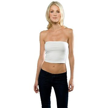 Womens Cotton Spandex Tube Top