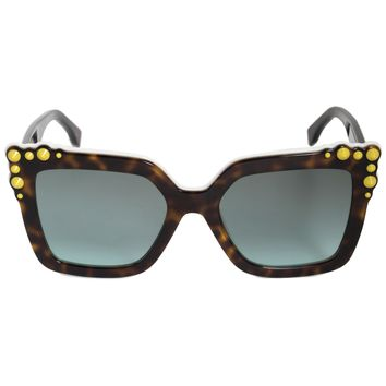 Fendi Can Eye Square Sunglasses FF0260S C9K EQ 52
