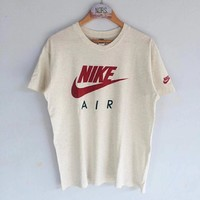 """""""Nike Air"""" Unisex Simple Casual Classic Letter Logo Print Couple Short Sleeve Round Neck T-shirt Top Tee"""
