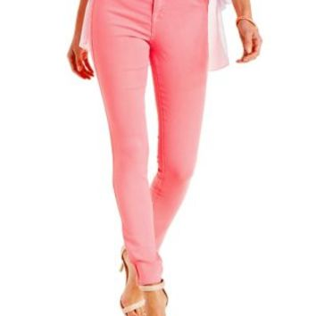 Neon Pink Skin Tight Legging Colored Skinny Jeans by Charlotte Russe