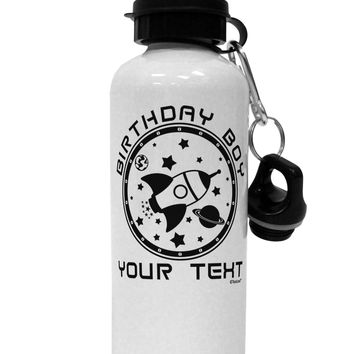 Personalized Birthday Boy Space with Customizable Name Aluminum 600ml Water Bottle