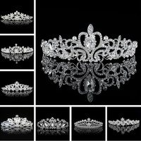 2016 Elegant Wedding Bridal Tiaras Crowns Headwear Rhinestone Pearl Wedding Hair Accessories Bride Pearl Jewelry For Women Girls