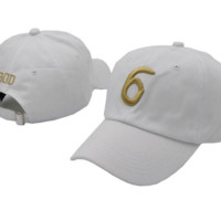 White 6 God Kith 1996 Embroidered Adjustable Outdoor Baseball Cap Hats