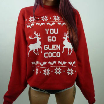 Womens You Go Glen Coco Christmas Sweater Christmas Gift