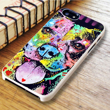 Pitbull Painting Animal Art iPhone 6 Case