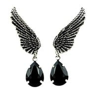 Wings w/ Black Stone Gothic Earrings Cosplay