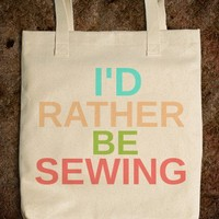 I'D RATHER BE SEWING - rockgoddesstees