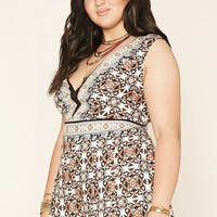 Plus Size Ornate Romper