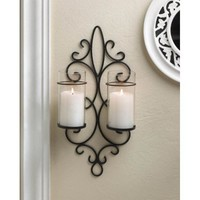 Esprit Duo Pillar Candle Wall Sconce Fixture