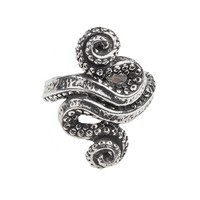 Alchemy Gothic Kraken Octopus Ring Cthulhu HP Lovecraft