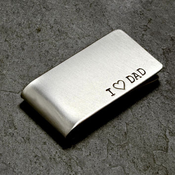 Sterling Silver Money Clip for Dads Father's Day or Celebrating Fatherhood