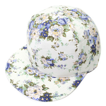 FREE SHIPPING 1PCS Fashion Flower Print Hiphop Snapback Baseball Cap Hat
