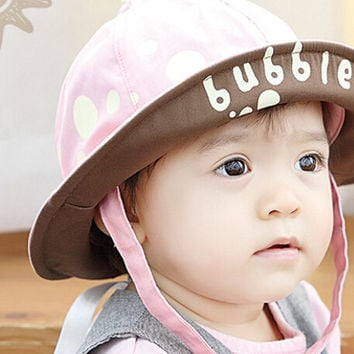 So Cute Kids Pink Fisherman Cap Comfortable Hot Summer Gift 44