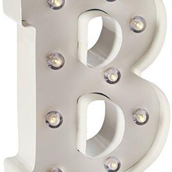 Darice Metal Letter B Marquee Light Up, White