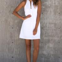 Lita Keyhole Bar White Dress
