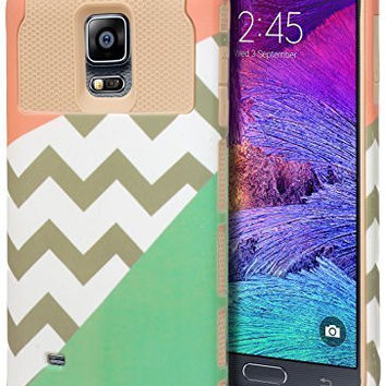 Note 4 Case,    Durable Hybrid Protective Case -  Gold Cha