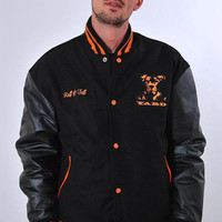 YARD UNISEX, X - OUT VARSITY, COLLEGE JACKET [BLACK/ORANGE]