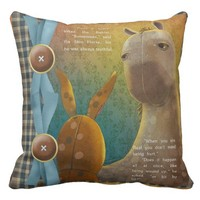 """The Velveteen Rabbit"" THROW PILLOW 20X2O"