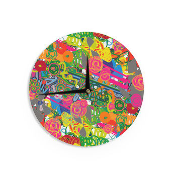 "Frederic Levy-Hadida ""Psychedelic Garden"" Wall Clock"