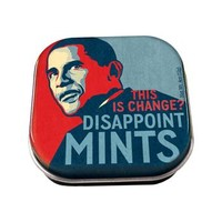 Novelty Obama-Themed Disappointmints Mint Candies in Collectible Tin, Fun & Unique Gifts