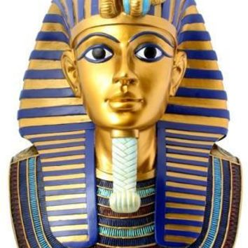 King Tut Funerary Mask Collectible Statue 12H