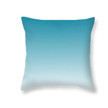 Ombre Pillow Cover Teal Pillow - Teal Bedding Blue Pillow Teal Ombre Aqua Pillow Ombre Bedding - Teal Decorative Pillows Teal Bedroom Decor