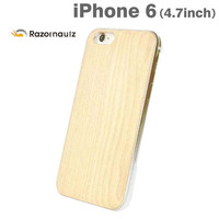 Real Wooden Grain Pattern Case for iPhone 6 (Cherry Blossom)