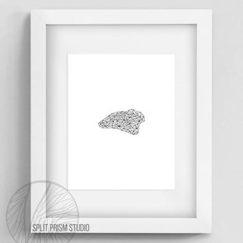 Original Art Print, Download, Print, Art, Digital File, Wall Art, Black and White, Abstract, Modern Art, Graphic Design, Crystal, Spiritual