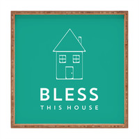 Allyson Johnson Bless This House Square Tray
