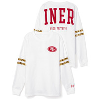 San Francisco 49ers Bling Varsity Crew - PINK - Victoria's Secret
