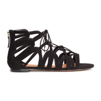 H&M Lace-up Sandals $29.99