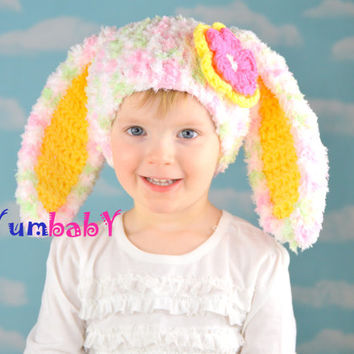 Fluffy Easter Bunny Hat with Floppy Ears!
