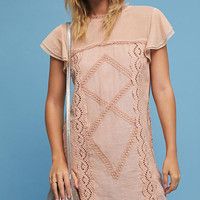 Melodie Flutter-Sleeve Tunic Dress