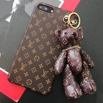 Gotopfashion LV Louis Vuitton Gucci Trending Unisex Hot Sale Lovely Bear Mobile Phone Shell iPhone Phone Cover Case For iphone X iphone 8 8plus iPhone6 6s 6plus 6s-plus iPhone 7 7plus I