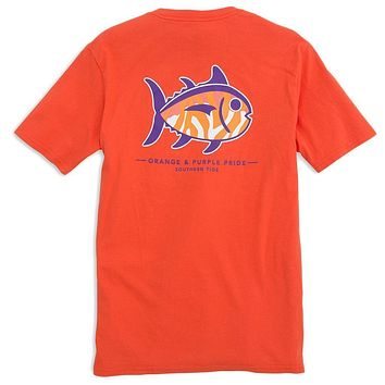 Clemson University Mascot Tee Shirt in Endzone Orange by Southern Tide