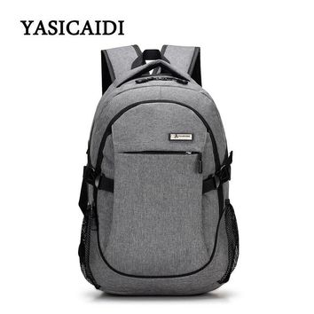 2018 Anti-thief Laptop Backpack USB Charging Youth Backpack for Women Male Bagpack School Backpack for Teens Canvas Daypack